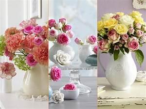 Deko Vasen Mit Blumen : ros pfirsich oder pink wir zelebrieren den sommer mit bezaubernder blumen deko ~ Markanthonyermac.com Haus und Dekorationen