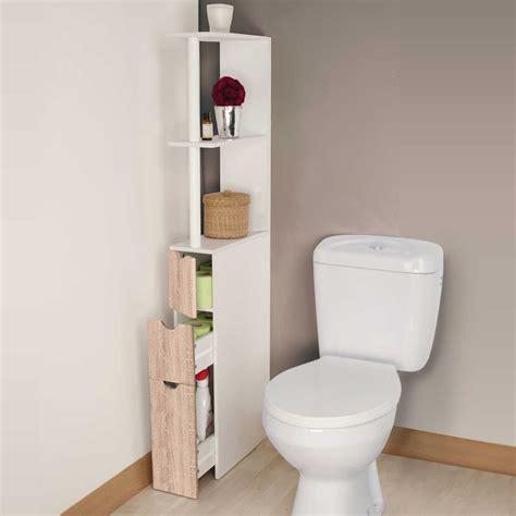 meuble de wc meuble wc 233 tag 232 re bois 3 portes coloris h 234 tre gain de place pour to