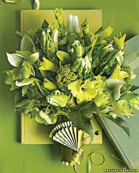 green wedding bouquets martha stewart weddings