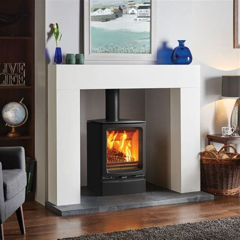 wood stove surround ideas  pinterest wood