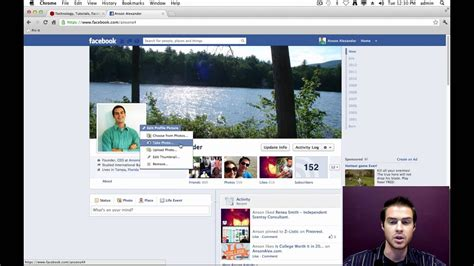 How Change The Facebook Timeline Profile Picture Youtube