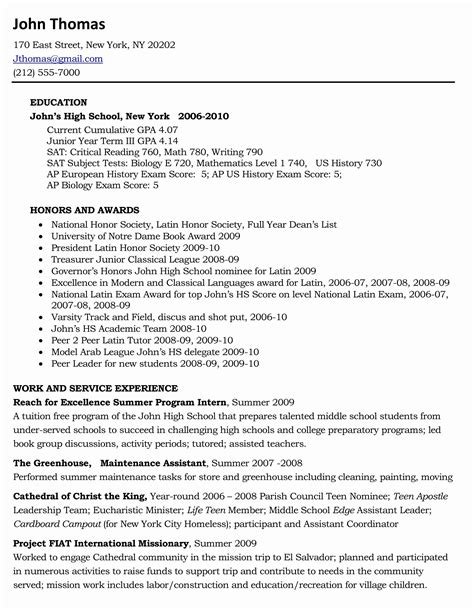 sample resume xls format  resume format high school