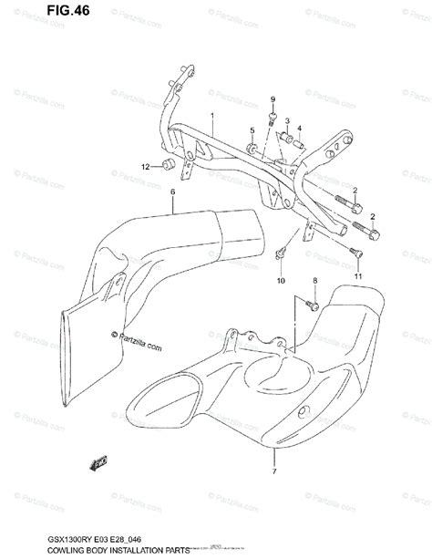 Suzuki Motorcycle Oem Parts Diagram For Cowl Body