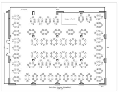 Dining Room Floor Plans by Roche Dining Commons 183 Stonehill College