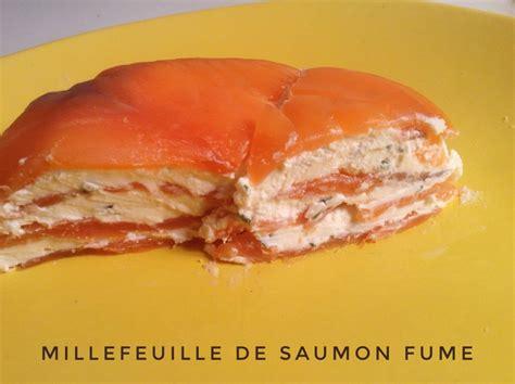 millefeuille de saumon fume recettes de cuisine avec