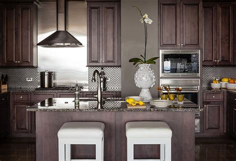 chocolate brown cabinets contemporary kitchen pieces