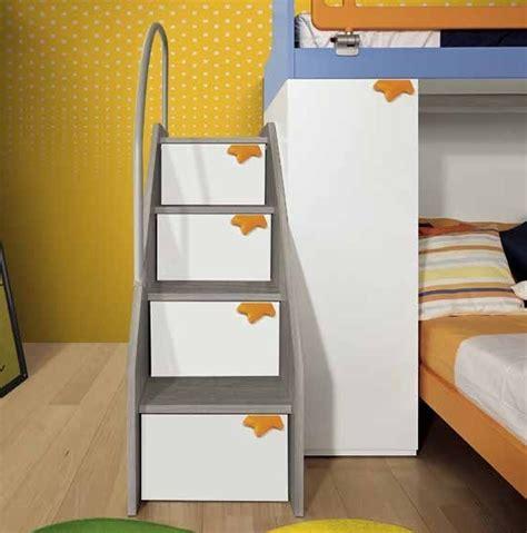 scala per letto a soppalco cameretta a ponte l 346 cm con due letti vari colori