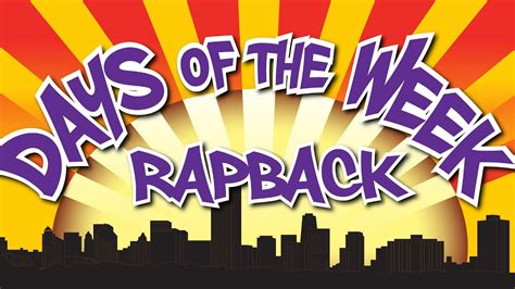 Days Of The Week Song  Day Of The Week Rap Back  Educational Songs  Jack Hartmann Youtube