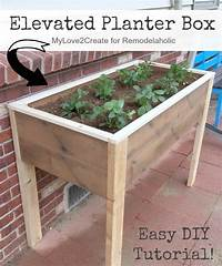 build a planter box Remodelaholic | Build an Elevated Planter Box (and save your back!)