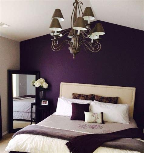 Purple Vintage Bedroom With Deep Purple Walls Painted