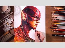 The Flash Barry Allen Grant Gustin speed drawing