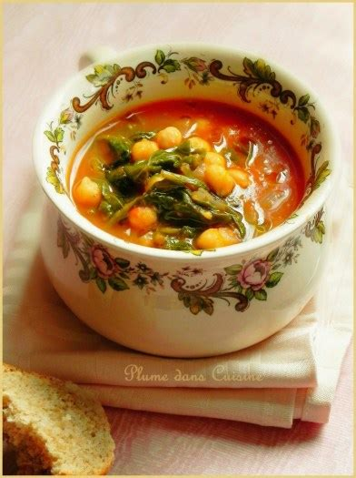 cuisine pois chiche soupe marocaine de pois chiches au cumin une plume dans