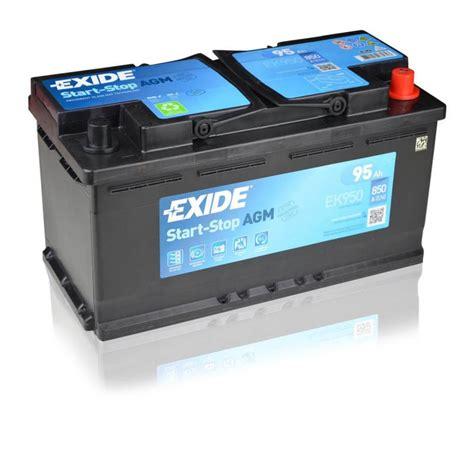 autobatterie start stop exide agm ek950 12v 95ah ready car battery start stop ebay