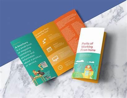 Mockup Brochure Psd Fold Tri Mockups A4
