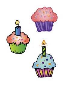 Happy Birthday Cupcake Clip Art