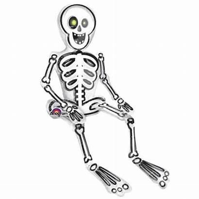 Skeleton Foil Sitting Balloon Halloween