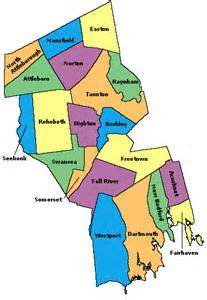 Bristol County Massachusetts Town Map