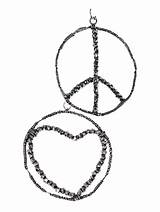 Coloring Earrings Peace Jewelry Pages Earring Template sketch template