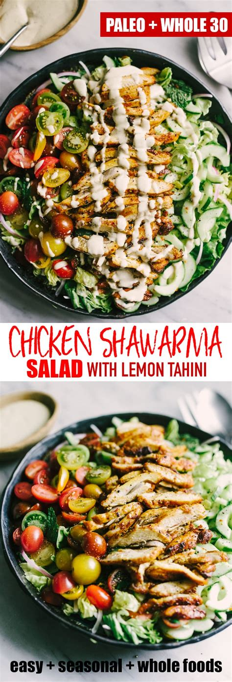 shawarma salad chicken dinner whole paleo fresh weeknight flavorful incredibly elegant recipes traveyard ro cooking
