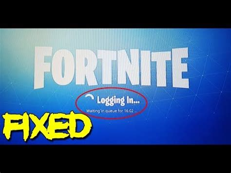 fortnite waiting  queue login error easy fix youtube