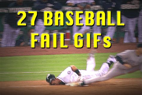 baseball fail gifs total pro sports