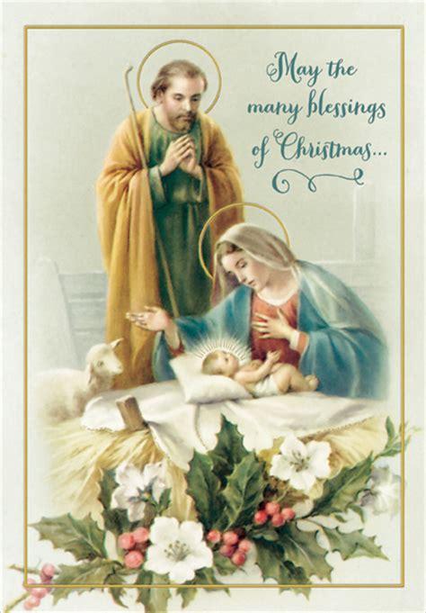 joseph mary  jesus religious christmas card
