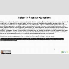 Gre Reading Comprehension 13  Select In Passage Youtube