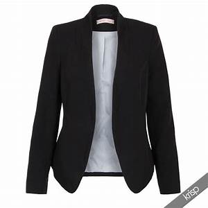 Womens Tailored Fashion Lapel Smart Open Blazer Jacket ...