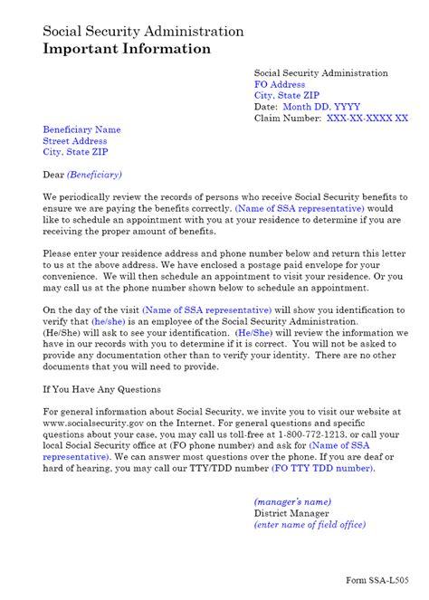SSA - POMS: NL 00701.139 - SSA-L505 Residence Address