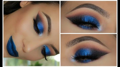 metallic blue smokey eye amys makeup box youtube