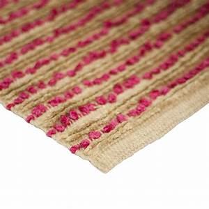 tapis de salon artisanal naturel fuchsia monbeautapiscom With tapis salon naturel