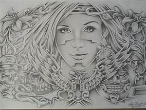 Aztec Design Canvas Print / Canvas Art by Lupe Gonzalez ...