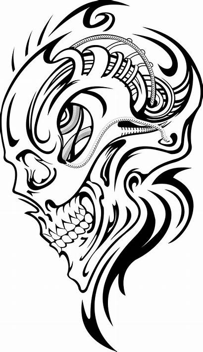 Skull Tattoo Transparent Drawings Tattoos Vector Drawing