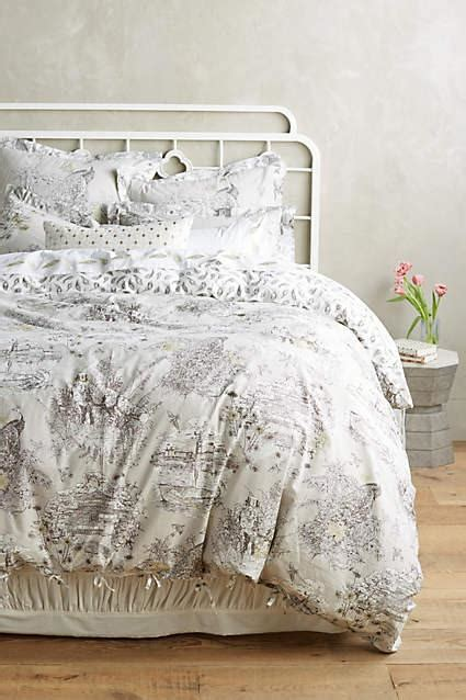 matine toile duvet cover sham powder blue pottery barn