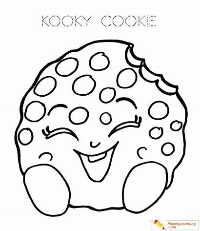 Cookie Coloring Pages Sheet Date Playinglearning