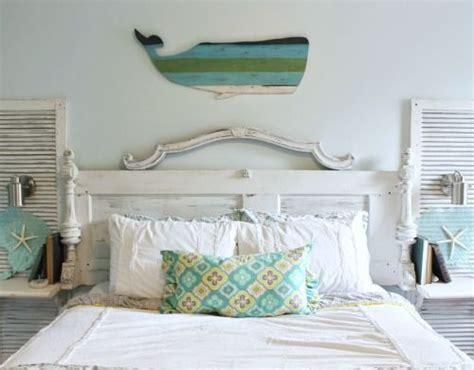 bed wall decor ideas   coastal beach theme