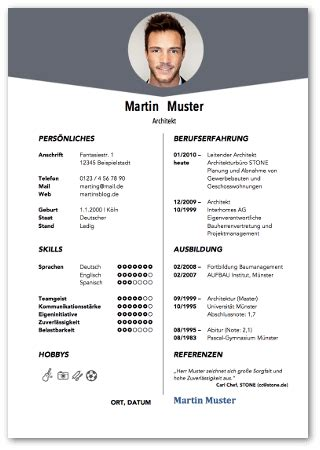 Gestaltung Lebenslauf Muster by How To Make A Resume On Word 2007 From Frisches 30