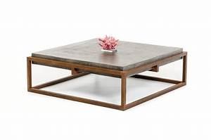 Modrest Shepard Modern Concrete Coffee Table - Urban