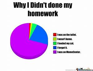 Why I Didn't Done My Homework by recyclebin - Meme Center