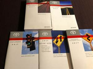 2017 Toyota Highlander Owners Manual