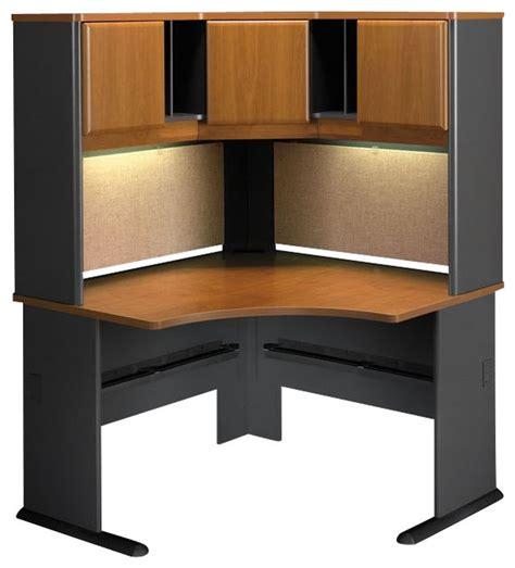 corner computer desk cabinet bush series a 48 quot corner computer desk with hutch in