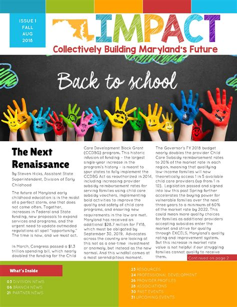 premiere issue  impact newsletter
