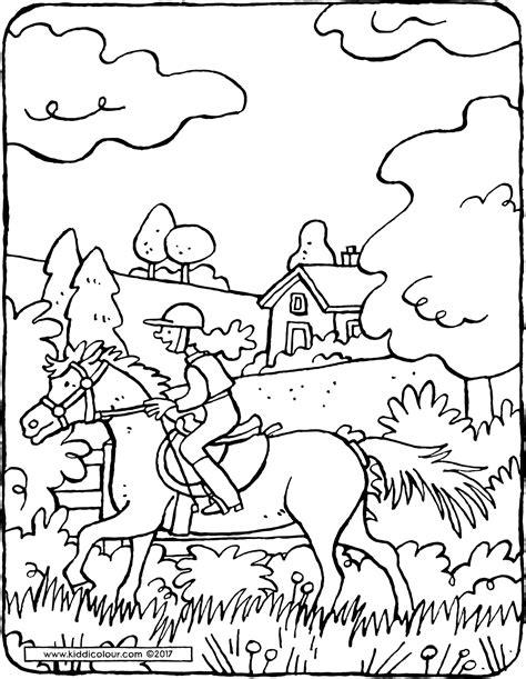 Paardrijden Kleurplaat by Paardrijden Kiddicolour