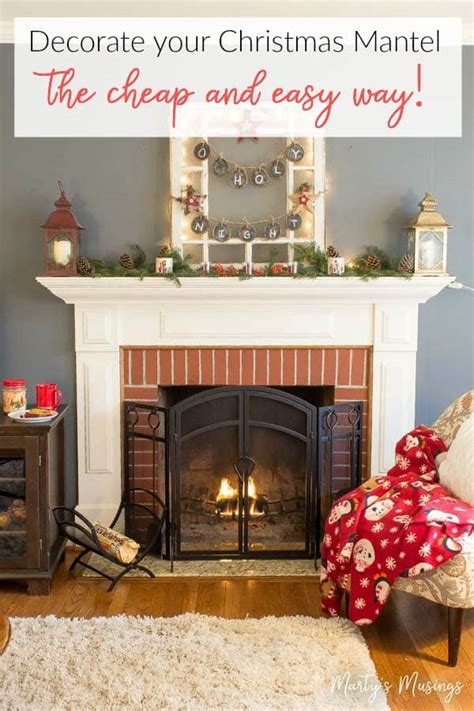 decorate  christmas mantel  cheap