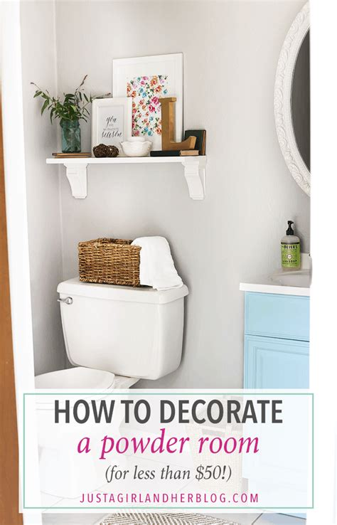 Decorating Ideas Powder Room by How To Decorate A Powder Room For Less Than 50 Just A