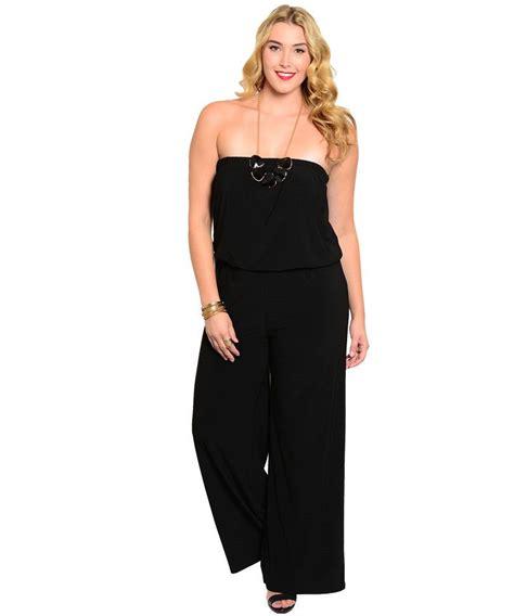 wide leg jumpsuit plus size h b g b black wide leg strapless jumpsuit plus size