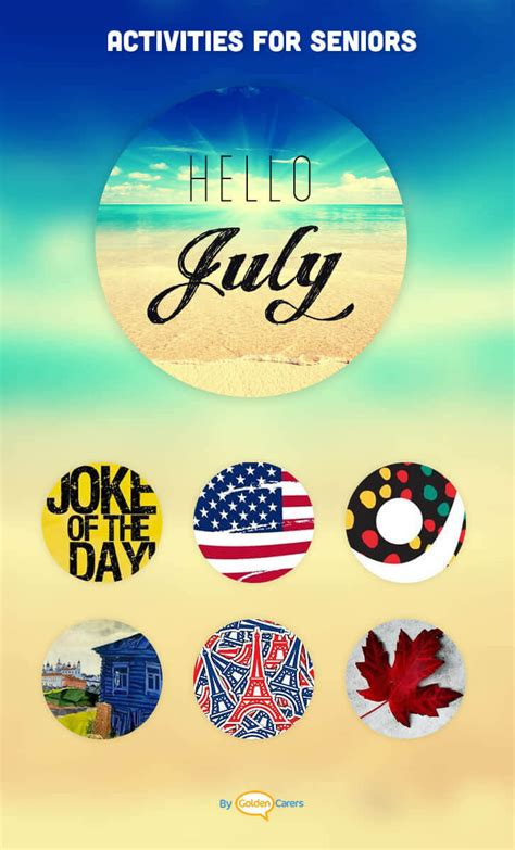 july  ideas activities calendar