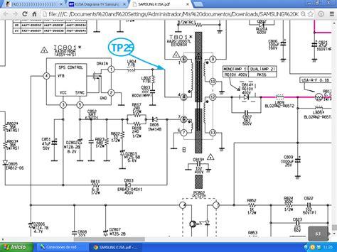 diagrama tv e aa41 11037c televisores de tubo yoreparo