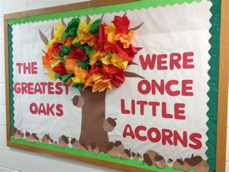 Fall Bulletin Board Ideas Every Strong Oak Was Once A