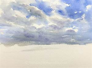 Field, And, Sky, Watercolor, Painting, Tutorial